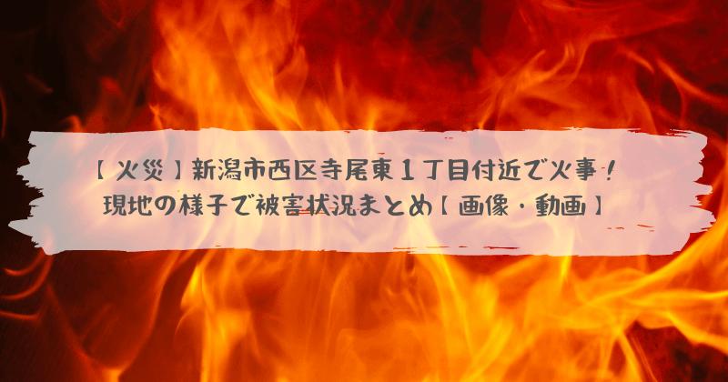 市 火事 新潟